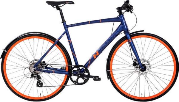 Nishiki-Speed-Herre-Mat-blå-m-orange-cykelforhandler